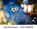 christmas lantern with... | Shutterstock . vector #531158506