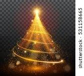 golden glitter bokeh lights and ... | Shutterstock .eps vector #531158665