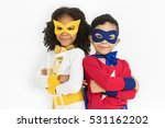 superhero adolescence child kid ... | Shutterstock . vector #531162202