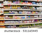 blurred image of vitamin store... | Shutterstock . vector #531165445