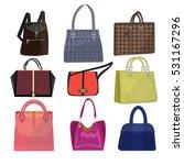 women leather color handbags... | Shutterstock .eps vector #531167296