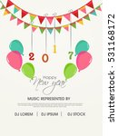 happy new year   merry... | Shutterstock .eps vector #531168172