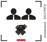 corporate agreement icon | Shutterstock .eps vector #531179572