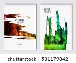 flyer layout template. vector...   Shutterstock .eps vector #531179842
