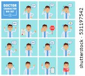big set of doctor characters... | Shutterstock .eps vector #531197542