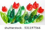 Paper Quilling. Colorful Paper...