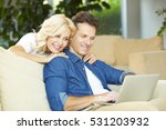 shot of a middle aged couple... | Shutterstock . vector #531203932