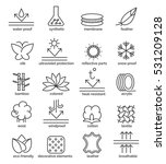 vector fabric feature icons.... | Shutterstock .eps vector #531209128