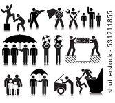 assistance activities icon set | Shutterstock .eps vector #531211855
