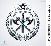 vector heraldic coat of arms...   Shutterstock .eps vector #531212338