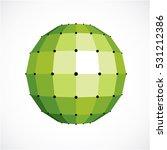 3d vector digital spherical... | Shutterstock .eps vector #531212386