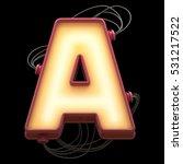 alphabet for light board with... | Shutterstock . vector #531217522