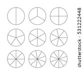 circle segments set. various... | Shutterstock .eps vector #531222448