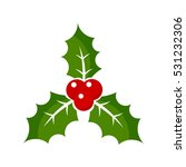 christmas holly berry icon... | Shutterstock .eps vector #531232306