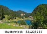 idyllic panorama gosausee lake  ... | Shutterstock . vector #531235156