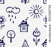 seamless vector pattern with... | Shutterstock .eps vector #531240742