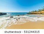 Rocks And Sand In Laguna Beach...