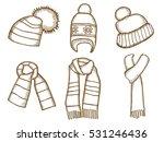 winter clothes. santa stocking... | Shutterstock .eps vector #531246436
