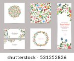 collection of greeting cards... | Shutterstock .eps vector #531252826