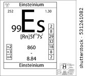 the periodic table element... | Shutterstock .eps vector #531261082