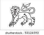 lion statant gardant