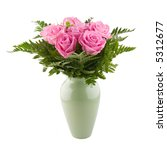 Arrangement Of Pink Roses In A...