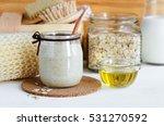 homemade oatmeal mask in a...   Shutterstock . vector #531270592