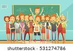 classic school education... | Shutterstock .eps vector #531274786