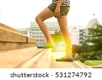 legs of women walking up the... | Shutterstock . vector #531274792