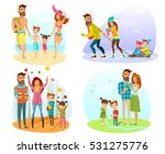 happy family spending good time ... | Shutterstock .eps vector #531275776