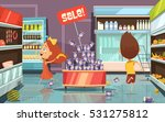running kids in a shop with... | Shutterstock .eps vector #531275812