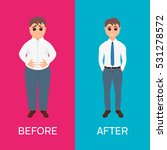 man before and after weight... | Shutterstock .eps vector #531278572
