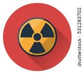 the radiation icon  symbol ... | Shutterstock .eps vector #531283702
