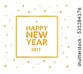happy new year 2017 text in... | Shutterstock .eps vector #531284176