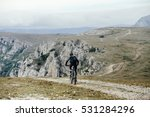 Athlete Cyclist On Mountainbik...