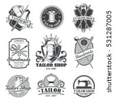 set of vector tailor emblem ... | Shutterstock .eps vector #531287005