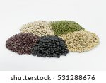 five type of beans isolate on... | Shutterstock . vector #531288676