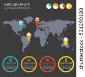 world map infographics template ... | Shutterstock . vector #531290188