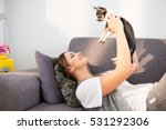 dog is happiness | Shutterstock . vector #531292306