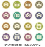 photo camera icon set for web...   Shutterstock .eps vector #531300442