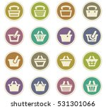 shopping bascket icon set for... | Shutterstock .eps vector #531301066
