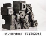 metal letterpress types.... | Shutterstock . vector #531302065