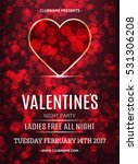vector valentines day night... | Shutterstock .eps vector #531306208