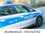 a german police car in action ... | Shutterstock . vector #531313762
