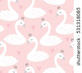 Seamless Swan Princess Pattern...