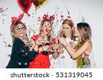 four young woman celebrating... | Shutterstock . vector #531319045