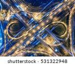 road traffic in city at... | Shutterstock . vector #531322948