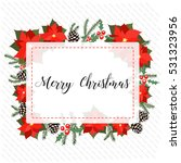 christmas card  decorated with... | Shutterstock .eps vector #531323956