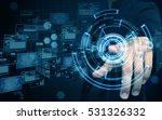 man press screen | Shutterstock . vector #531326332