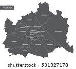 vector map vienna district | Shutterstock .eps vector #531327178